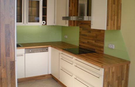 Küchenglaswand von der Glaserei Kovacs