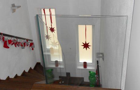 Glasgeländer von der Glaserei Kovacs
