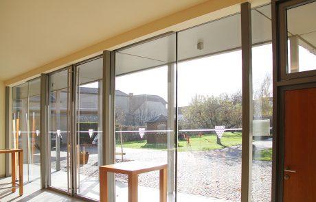 Glasfassade von der Glaserei Kovacs