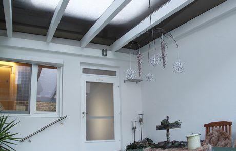 Pergola mit Glasdach der Glaserei Kovacs